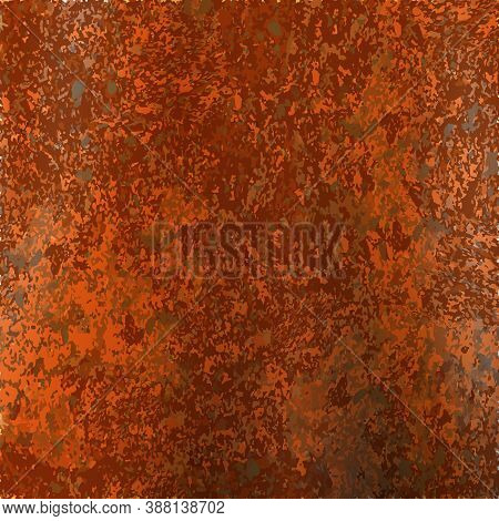 Rusty And Metal Texture Background. Realistic Russet Sample, Template. Vector Illustration Eps10.