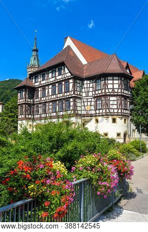 Castle Residence (residenzschloss) Or Residential Palace In Bad Urach, Germany. This Beautiful Castl
