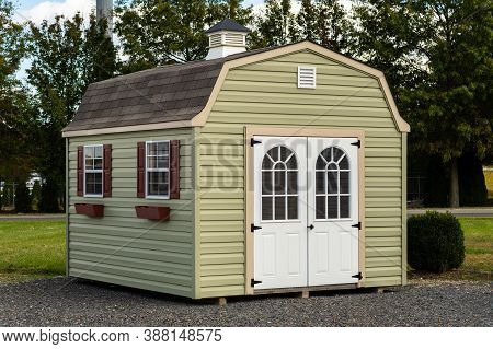Green Shed A Nice New Storage Shed