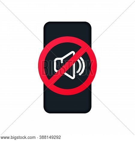Silent Mode Icon For Smart Phone. Vector Eps 10. Isolated On White Background