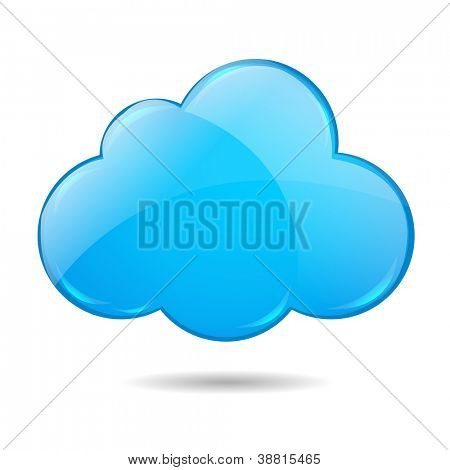 Cloud, Isolated On White Background With Gradient Mesh