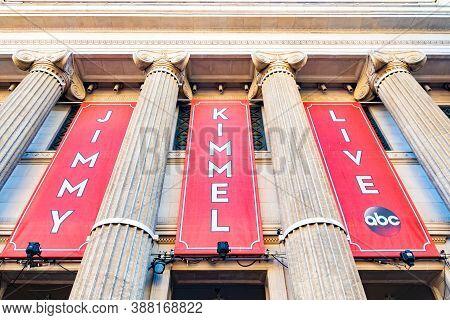 Hollywood, California - October 09 2019: Abc Studios Jimmy Kimmel Live Set Location On Hollywood Bou