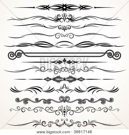 Ornamental Design Elements. Ornamental Lines to Embellish your Book, Invitation, Card or Menu