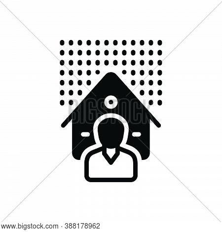 Black Solid Icon For Bother Tension Harassment Botheration Trouble Annoying Irritated