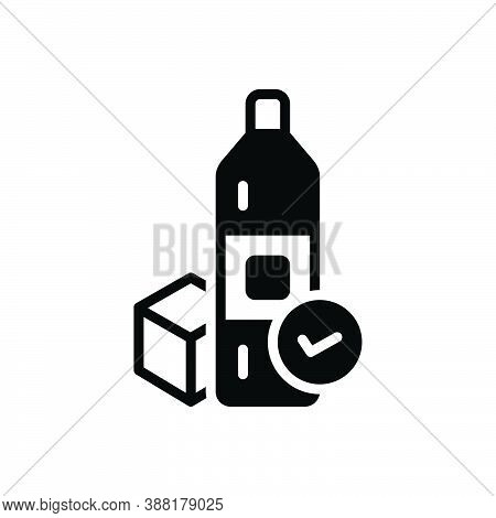 Black Solid Icon For Available Accessible Applicable Achievable Convenient Product Ready-for-use In-