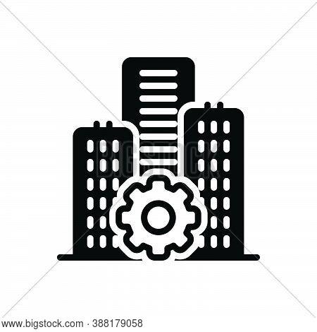 Black Solid Icon For Establishment  Foundation Underlay Basis Architecture Building Construction Pre