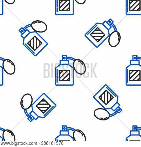 Line Aftershave Icon Isolated Seamless Pattern On White Background. Cologne Spray Icon. Male Perfume