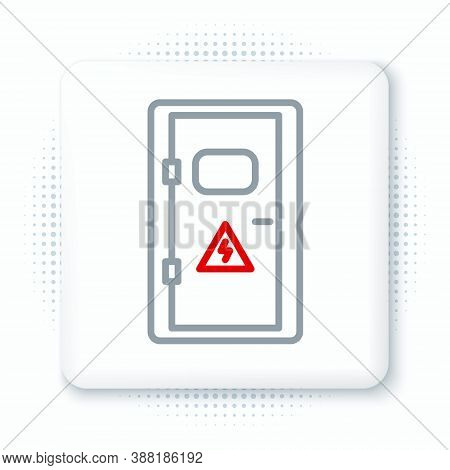 Line Electrical Cabinet Icon Isolated On White Background. Colorful Outline Concept. Vector