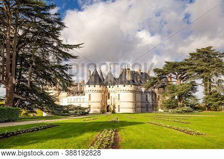 Chaumont-sur-loire, France: October 18, 2019: Scenic View Of The Beautiful Chaumont-sur-loire Castle