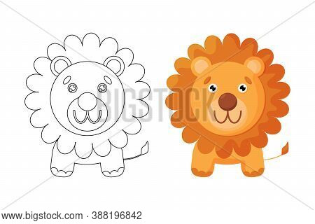 Coloring Page Of Cute Lion, Can Train Your Childrens Imagination And Train Childrens Creativity And