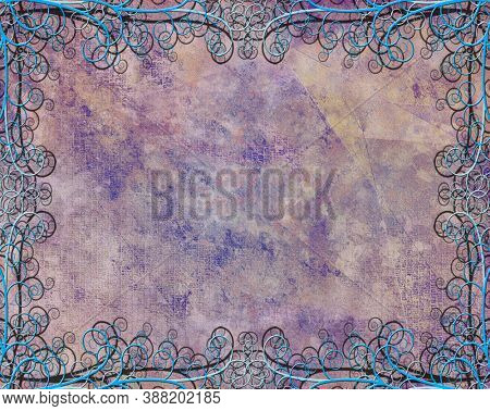Textured Background with Flourishes. 3D rendering