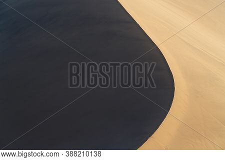 The Curve Of The Dessert, Natural Terrain Background.