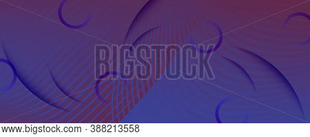 Red Dynamic Abstract. Flow Line Brochure. 3d Background. Vector Technology Elements. Geometric Graph