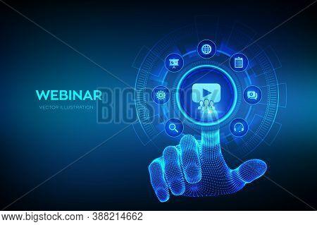 Webinar. Internet Conference. Web Based Seminar. Distance Learning. E-learning Training Business Tec
