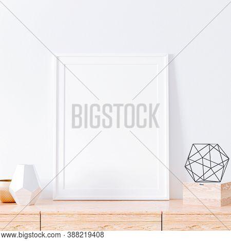 3d blank frame mock setup