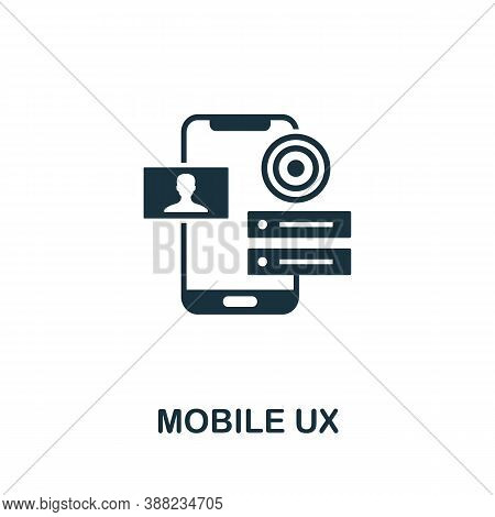 Mobile Ux Icon. Simple Element From App Development Collection. Filled Mobile Ux Icon For Templates,
