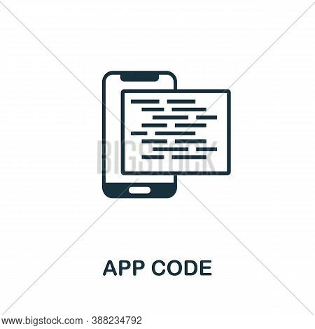 App Code Icon. Simple Element From App Development Collection. Filled App Code Icon For Templates, I