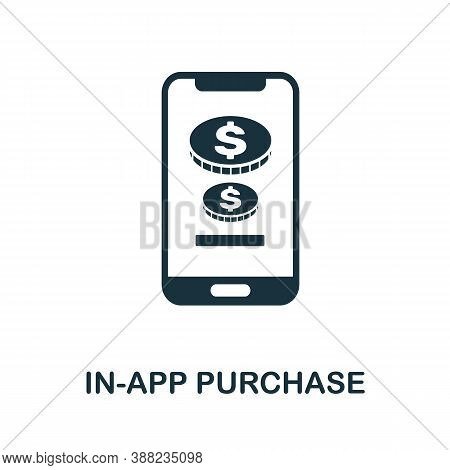 In-app Purchase Icon. Simple Element From App Development Collection. Filled In-app Purchase Icon Fo