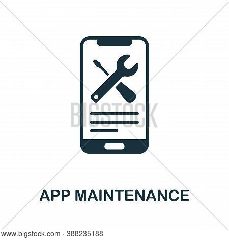 App Maintenance Icon. Simple Element From App Development Collection. Filled App Maintenance Icon Fo