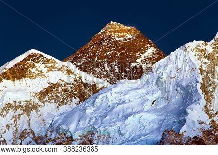 Nightly View Of Everest And Nuptse From Kala Patthar, Khumbu Valley, Sagarmatha National Park, Nepal