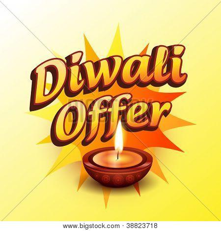 vector diwali offer design illustration poster