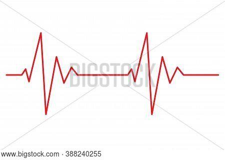 Heart Beat Line Pulse Rhythm Icon Vector