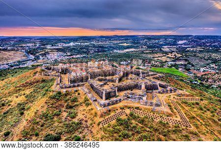 The Nossa Senhora Da Graca Fort At Sunset. Unesco World Heritage In Elvas, Portugal