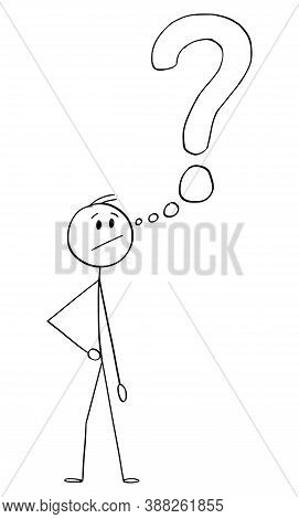 Cartoon Stick Figure Drawing Conceptual Illustration Of Angry Frustrated Man Or Businessman With Thi