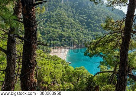 Kabak beach at Mediterranean sea near Fethiye, Turkey