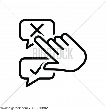 Black Line Icon For Disagree Negative Positive Accept Agree Approve Confirm Agree Choice Choose