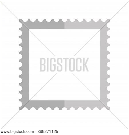 Flat Image Of The Postage Stamp Icon. Vector. 10 Eps