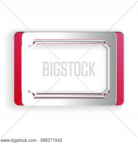 Paper Cut Doormat With The Text Welcome Icon Isolated On White Background. Welcome Mat Sign. Paper A