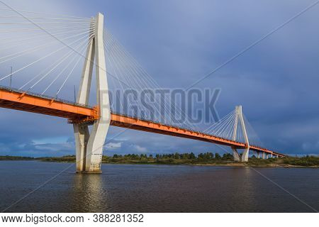 Cable-stayed bridge in the city of Murom - Vladimir Region - Russia