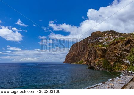 Cabo Girao viewpoint in Madeira Portugal - travel background