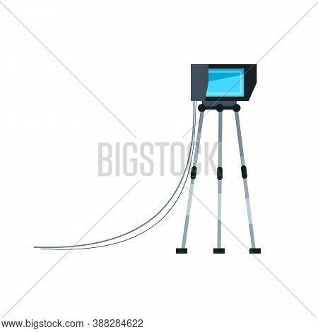 Film Projector Semi Flat Rgb Color Vector Illustration. Revolutionary Movie Creation Equipment. Prof