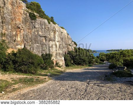 The Montauro Quarry In The Zlatni Rt Forest Park, Rovinj (rovigno) - Istria, Croatia / Kamenolom Mon