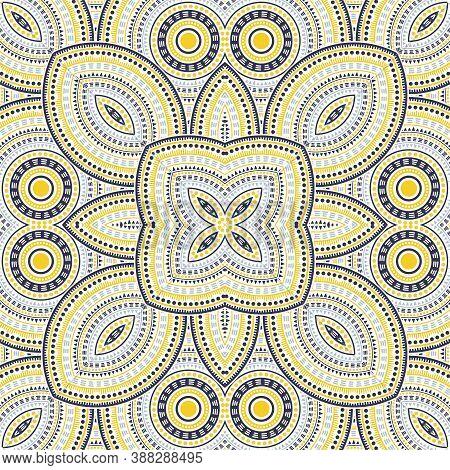 Simple Portugese Azulejo Tile Seamless Pattern. Ethnic Structure Vector Elements. Plaid Print Design