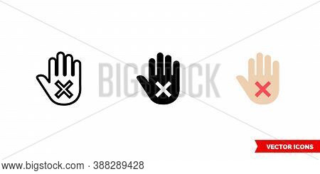 Disclaimer Icon Of 3 Types Color, Black And White, Outline. Isolated Vector Sign Symbol.
