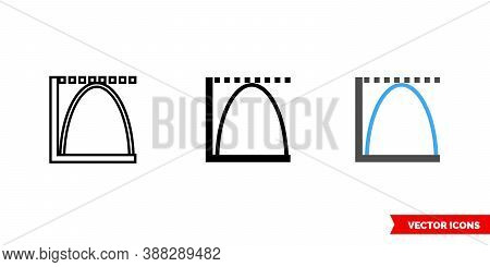 Histogram Icon Of 3 Types Color, Black And White, Outline. Isolated Vector Sign Symbol.