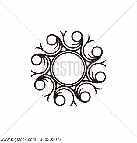 Engraving Icon. Icon With Isolated Braid Style Vector Round Ornament. Icon For Laser Wood. Icons For