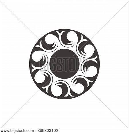 Engraving Icon. Icon With Black Outline Isolated On Transparent Background. Laser Cut Vector Icon. W