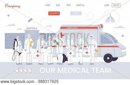 Paramedic Ambulance Team, Urgency Rescuer Help In Pandemic Condition. Online Hospital Emergency Serv