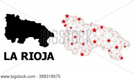 2d Polygonal And Solid Map Of La Rioja Spanish Province. Vector Structure Is Created From Map Of La