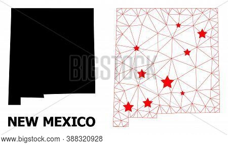 2d Polygonal And Solid Map Of New Mexico State. Vector Structure Is Created From Map Of New Mexico S