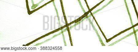 Watercolor Rhombus. Spring Geometry Artwork. White Zig Zag Abstraction. Random Chaos Stripe. Waterco