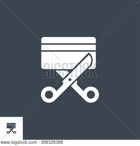 Expired Credit Card Related Vector Glyph Icon. Isolated On Black Background. Vector Illustration.