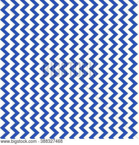 Cerulean Blue And White Chevron Pattern In Vertical Zigzags In 12x12 Design Element For Backgrounds