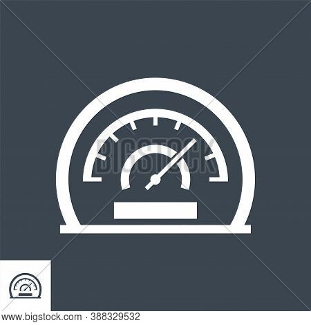 Efficiency Related Vector Glyph Icon. Isolated On Black Background. Vector Illustration.