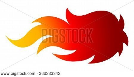Fire Flames Vector Art Illustration Isolated On White Background. Ideal For Logo Design, Stickers, D