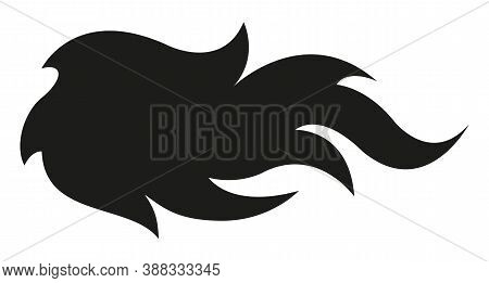 Fire Flame Vector Art Silhouette Isolated On White Background. Ideal For Logo Design, Stickers, Deca